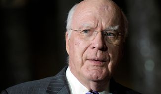 **FILE** Sen. Patrick J. Leahy, Vermont Democrat, chairs the Senate Judiciary Committee. (Associated Press)
