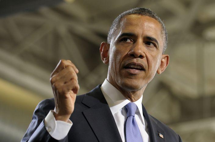 **FILE** President Obama speaks at the Police Academy in Denver on April 3, 2013. (Associated Press)