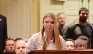 Sarah Merkle of Maryland. (Screen shot of YouTube.com video)