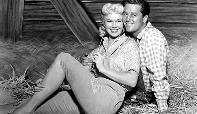 "Doris Day and Gordon MacRae in ""By the Light of the Silvery Moon."" (Courtesy of Warner Home Video)"