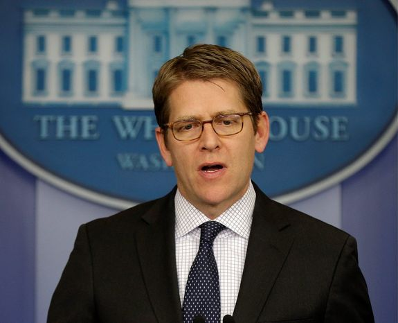"White House press secretary Jay Carney says the GOP favors ""reduced economic growth, reduced job creation"" over wealthy jet owners. (Associated Press)"