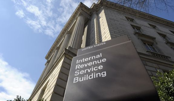 The exterior of the Internal Revenue Service building in Washington is seen here on March 22, 2013. (Associated Press) **FILE**