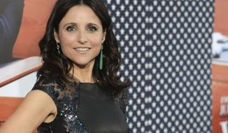 "**FILE** Julia Louis-Dreyfus arrives at the premiere of the second season of ""Veep"" at Paramount Studios on April 9, 2013, in Los Angeles. (Associated Press/Invision)"