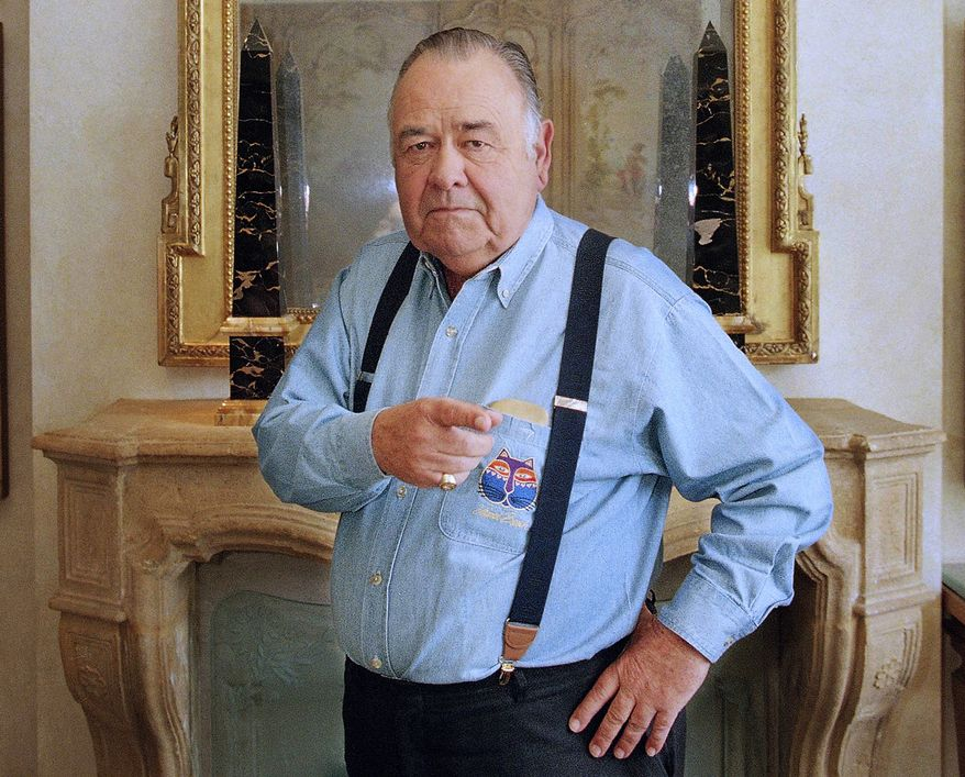 ** FILE ** This May 6, 1997, file photo shows comedian Jonathan Winters posing at a hotel in Beverly Hills, Calif. Winters, whose breakneck improvisations inspired Robin Williams, Jim Carrey and many others, died Thursday, April 11, 2013, at his Montecito, Calif., home of natural causes. He was 87. (AP Photo/Damian Dovarganes, file)