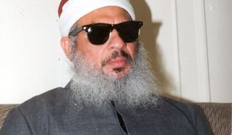 Sheik Omar Abdel-Rahman, known as the blind sheik. (Credit: Associated Press)