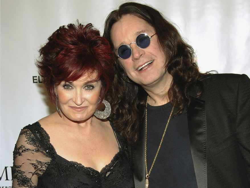 """Sharon and Ozzy Osbourne arrive at the Elton John AIDS Foundation's sixth annual benefit, """"An Enduring Vision,"""" at the Waldorf-Astoria Hotel in New York in 2007. (AP Photo/Evan Agostini) ** FILE **"""