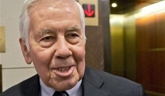Then-Sen. Richard Lugar, R-Ind. is seen on Capitol Hill in Washington, Nov. 13, 2012. (Associated Press)