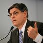 Treasury Secretary Jack Lew testifies on Capitol Hill in Washington on April 16, 2013, before the House Budget Committee hearing on President Obama's fiscal 2014 federal budget. (Associated Press)