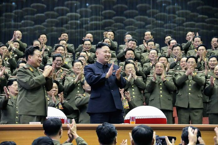 Some intelligence officials fear that Kim Jong-Un may take a page from his grandfather, Kim Il-sung, who launched the Korean War in part because he feared losing power. (Associated Press) ** FILE **