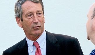 ** FILE ** Disgraced former Gov. Mark Sanford, once poised to run as a Republican favorite in the race for South Carolina's vacant U.S. House seat, has hit some speed bumps on the campaign trail. (Associated Press)