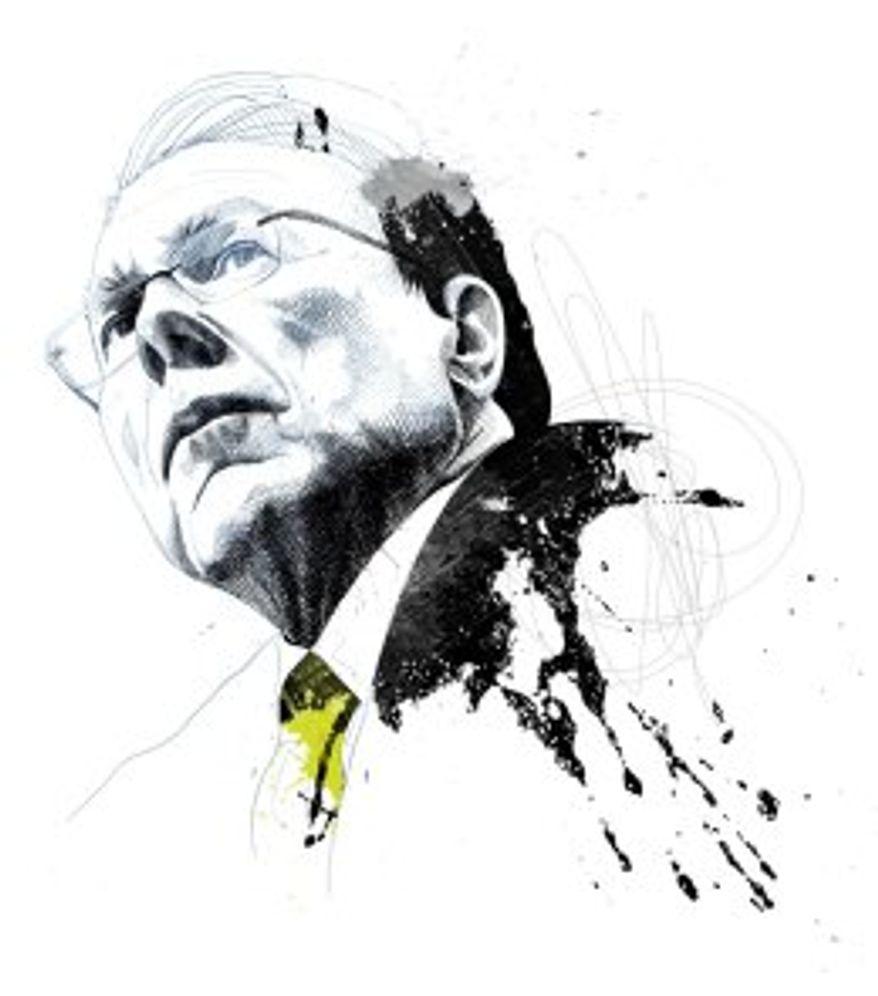 Illustration of Wayne LaPierre by David Despau for TIME