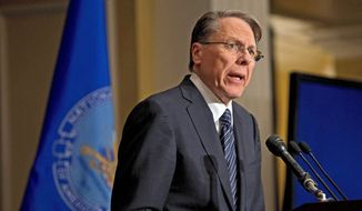 Wayne LaPierre, executive vice president of the National Rifle Association. (Associated Press)