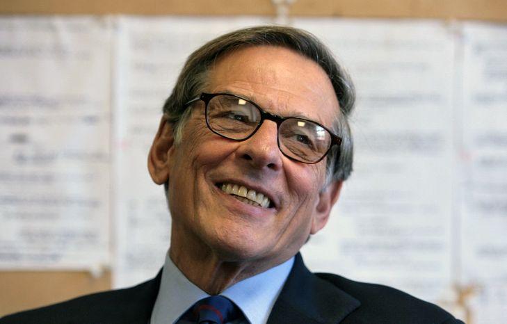 Pulitzer Prize-winning author and biographer Robert Caro is shown during an interview in New York in 2008. (AP Photo/Bebeto Matthews)