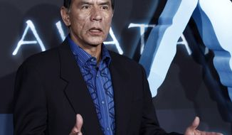 """** FILE ** Actor Wes Studi arrives at the premiere of """"Avatar"""" in Los Angeles on Dec. 16, 2009. (AP Photo/Matt Sayles)"""