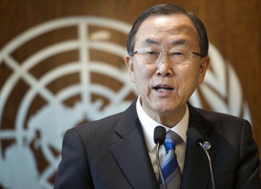 **FILE** United Nations Secretary-General Ban Ki-moon (Associated Press)
