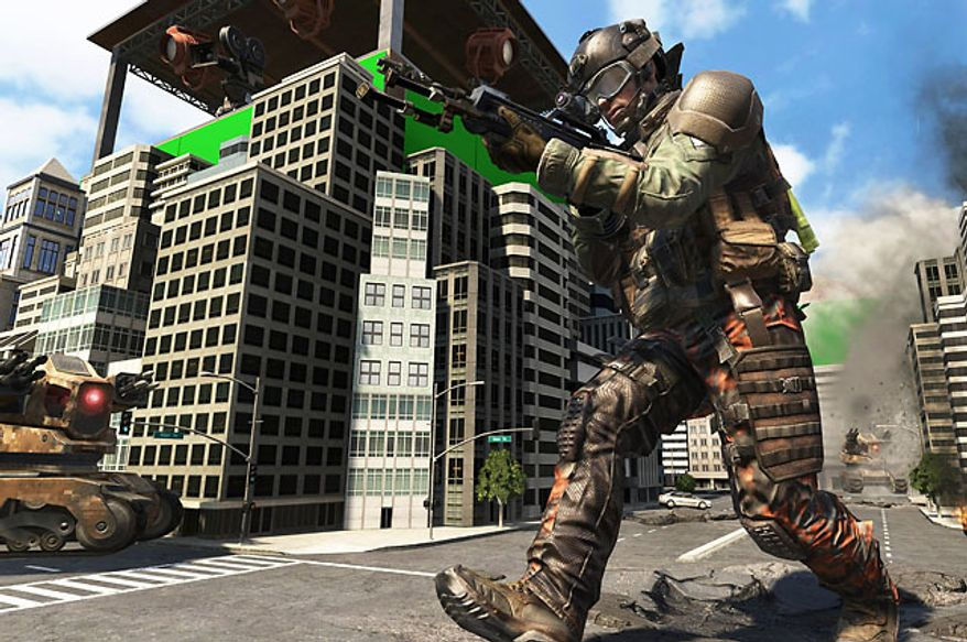 Fight on a Hollywood backlot in the downloadable content (DLC) pack Uprising for the first person shooter Call of Duty: Black Ops II.