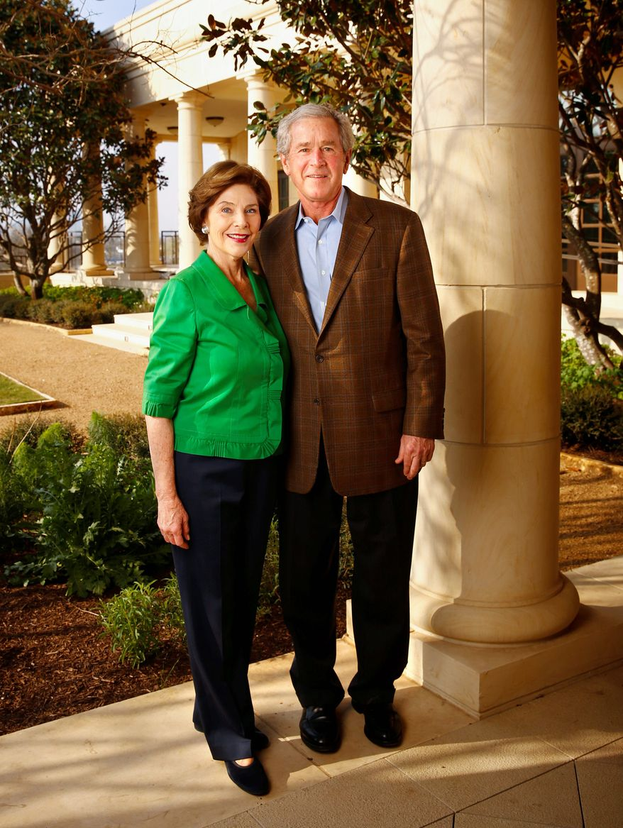 Former President George W. Bush and his wife, Laura, will dedicate the George W. Bush Presidential Center, complete with rose garden, in Dallas on Thursday. President Obama will be among the guests.
