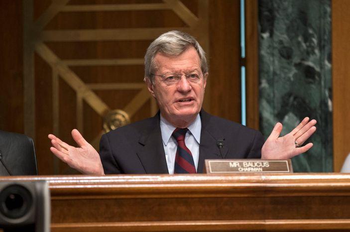 **FILE** Sen. Max Baucus, Montana Democrat (Associated Press)