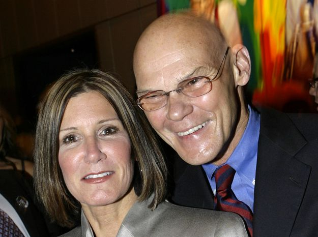 ** FILE ** Married political strategists Mary Matalin and James Carville attend a CNN party in New York in 2007 to mark Larry King's 50 years in broadcasting. (AP Photo/Stuart Ramson)