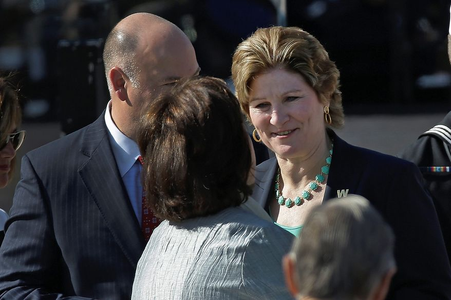 Former presidential adviser Karen Hughes arrives for the dedication of the George W. Bush Presidential Center, Thursday, April 25, 2013, in Dallas. (AP Photo/David J. Phillip)