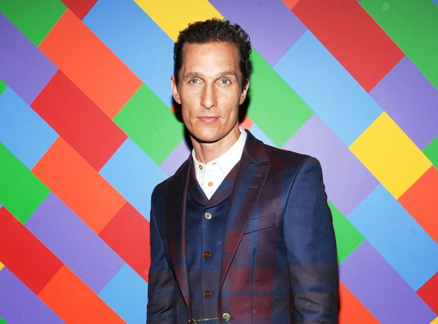 "**FILE** Actor Matthew McConaughey attends the premiere of ""Mud"" hosted by The Cinema Society with FIJI Water & Levi's at the Museum of Modern Art in New York on April 21, 2013. McConaughey stars in the film with Reese Witherspoon. (Evan Agostini/Invision/Associated Press)"