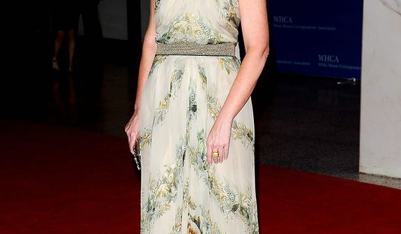"""""""Today"""" show co-host Savannah Guthrie attends the White House Correspondents' Association Dinner at the Washington Hilton Hotel on Saturday, April 27, 2013, in Washington. (Evan Agostini/Invision/AP)"""