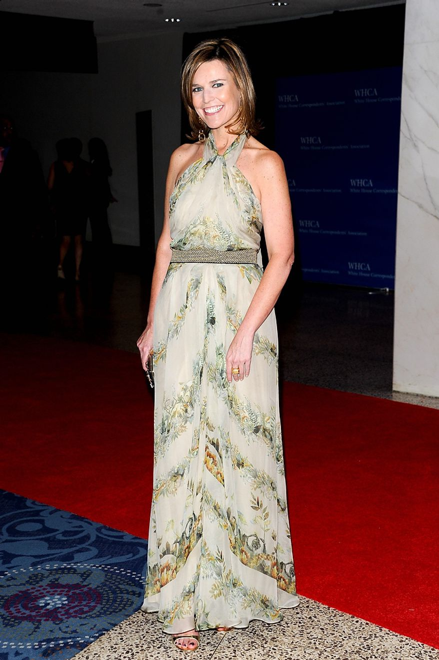 """Today"" show co-host Savannah Guthrie attends the White House Correspondents' Association Dinner at the Washington Hilton Hotel on Saturday, April 27, 2013, in Washington. (Evan Agostini/Invision/AP)"