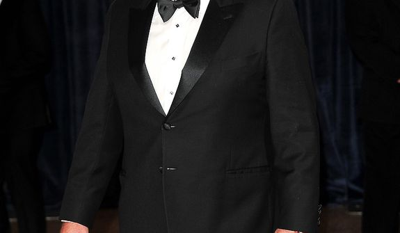 """Actor Eric Stonestreet of the ABC comedy """"Modern Family"""" attends the White House Correspondents' Association Dinner at the Washington Hilton Hotel on Saturday, April 27, 2013, in Washington. (Evan Agostini/Invision/AP)"""