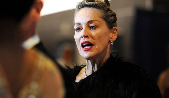Actress Sharon Stone attends the White House Correspondents' Association Dinner at the Washington Hilton Hotel on Saturday, April 27, 2013, in Washington. (Evan Agostini/Invision/AP)