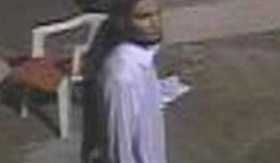 The FBI is seeking information about the individual seen here on the grounds of the United States Special Mission during the Sept. 11, 2012, attacks on United States personnel and facilities in Benghazi, Libya. (FBI)