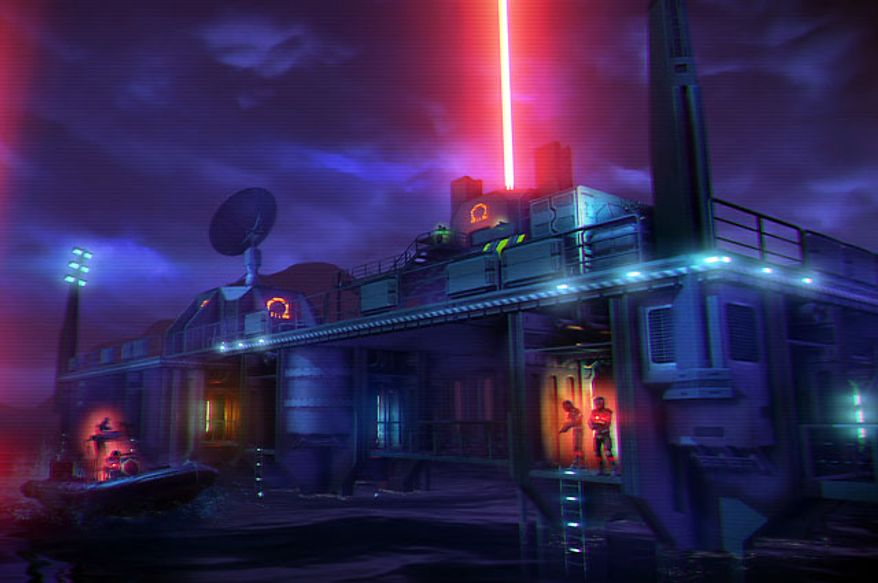 Liberate an Omega Force base in the first person shooter Far Cry 3: Blood Dragon.