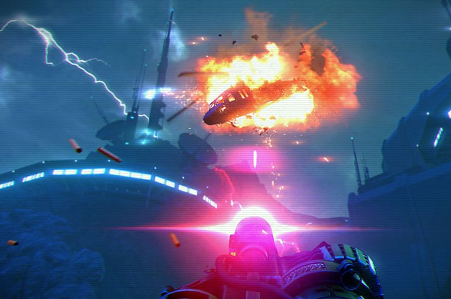Shoot down a helicopter in the video game Far Cry 3: Blood Dragon.