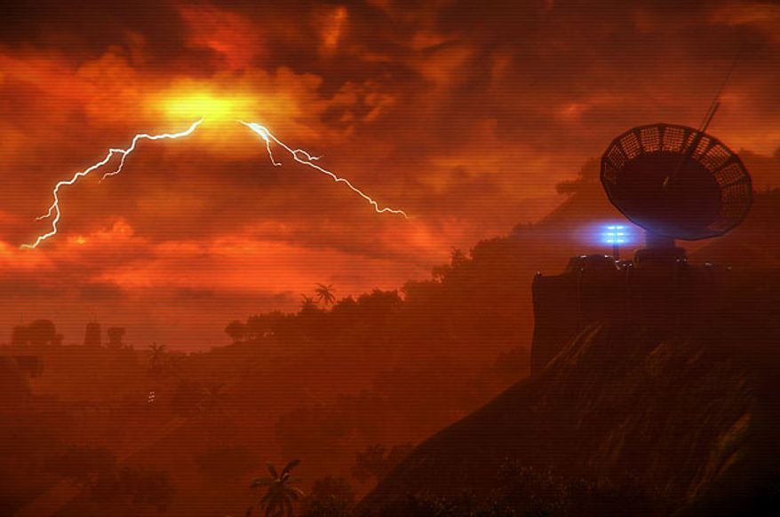 Explore a hostile island in the first person shooter Far Cry 3: Blood Dragon.