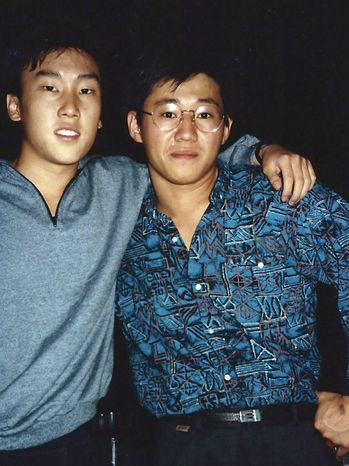 "**FILE** This 1988 photo provided by Bobby Lee shows Kenneth Bae (right) and Mr. Lee together when they were freshmen at the University of Oregon. Bae, detained for nearly six months in North Korea, has been sentenced to 15 years of ""compulsory labor"" for unspecified crimes against the state, Pyongyang announced on May 2, 2013. (Associated Press/The Register-Guard)"