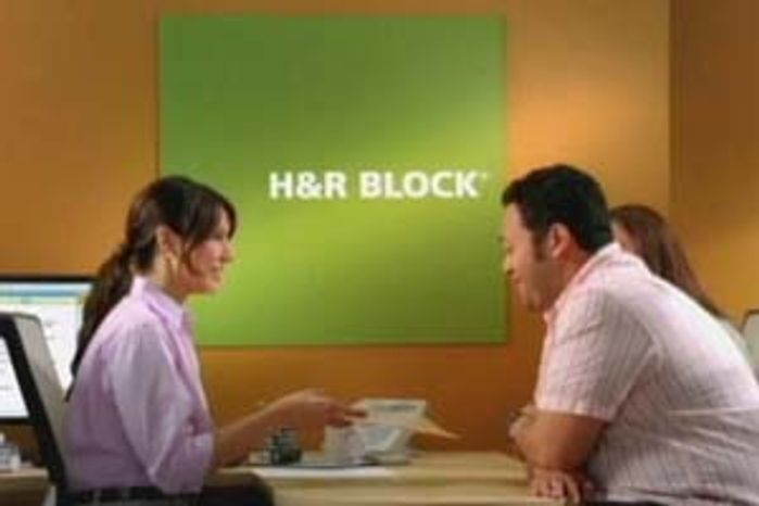 H & R Block image from a recent ad campaign by the tax preparation company