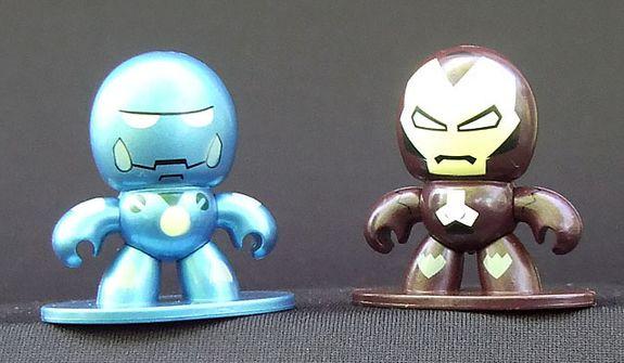 A couple of Iron Man Micro Muggs. (Photograph by Joseph Szadkowski / The Washington TImes)
