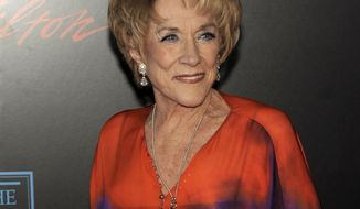 "Actress Jeanne Cooper, the longtime star of the TV soap opera ""The Young and the Restless,"" arrives at the 37th annual Daytime Emmy Awards in Las Vegas on June 27, 2010. (AP Photo/Chris Pizzello)"