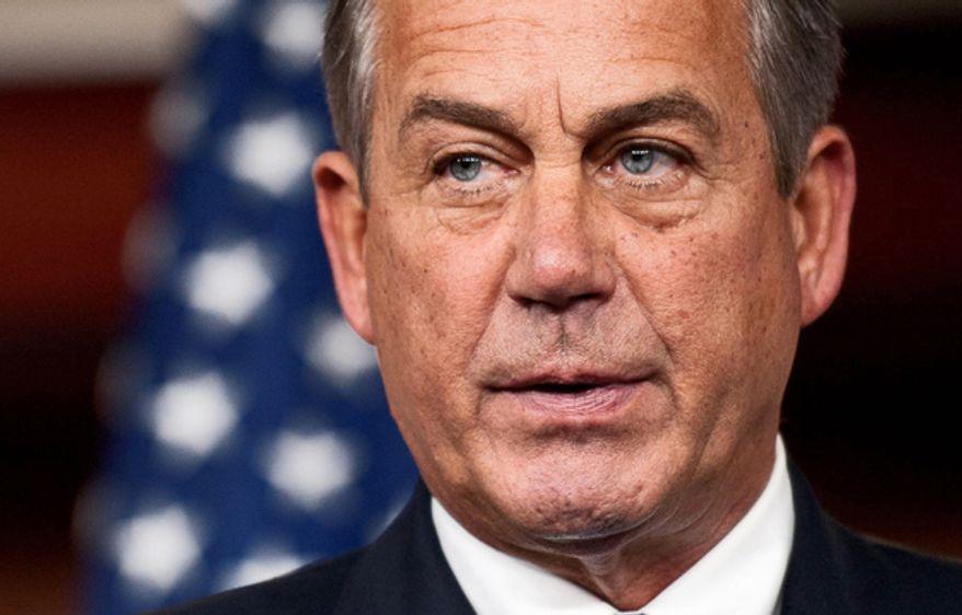 ** FILE **  House Speaker John A. Boehner, R-Ohio (Associated Press)