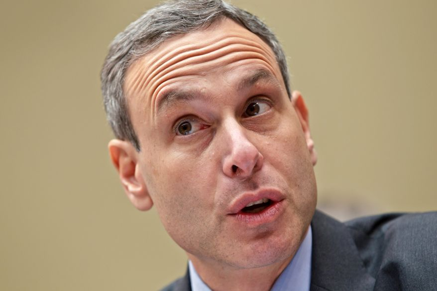 **FILE** Internal Revenue Service Commissioner Douglas Shulman testifies on Capitol Hill in Washington before the House Oversight Committee on Aug. 2, 2012. (Associated Press)