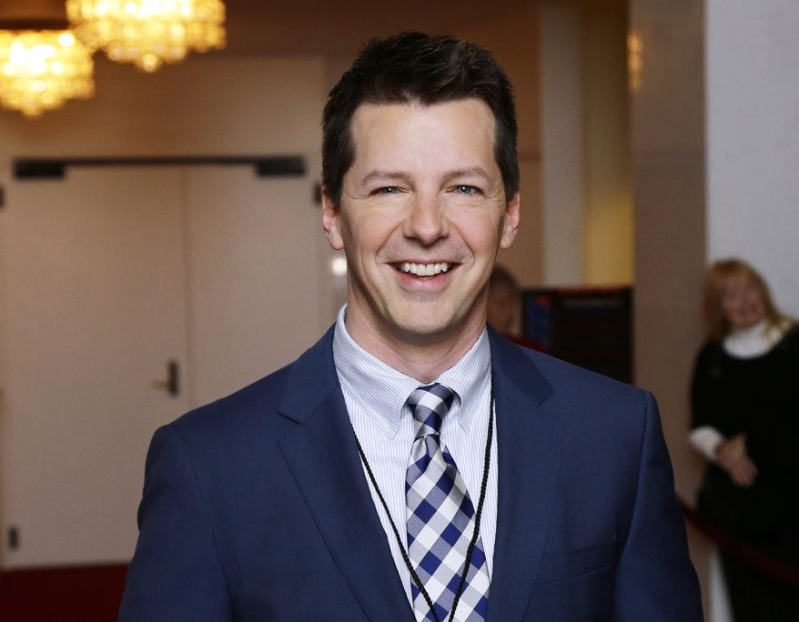 ** FILE ** Actor Sean Hayes poses for photographers at the 15th annual Mark Twain Prize for American Humor at the Kennedy Center in Washington on Monday, Oct. 22, 2012. (AP Photo/Alex Brandon)