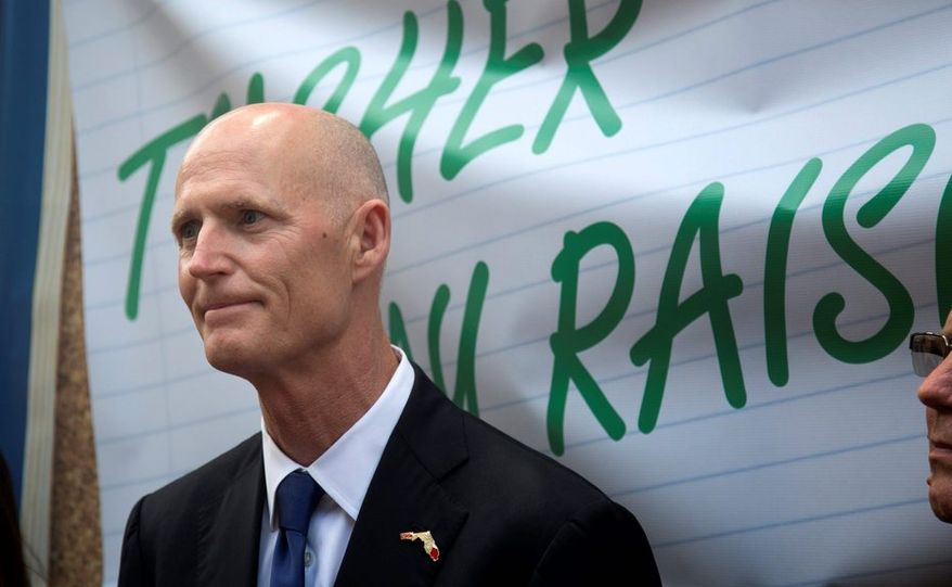 Florida Gov. Rick Scott has argued that the Medicaid expansion is the right thing to do, morally and economically, placing him at odds with some right-leaning politicians in his state. (associated press)