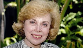 """** FILE ** In this Sept. 1, 1987, file photo, Dr. Joyce Brothers takes a break from a busy schedule in Los Angeles to talk about her upcoming television series, """"The Psychology Behind the News."""" Brothers died Monday, May 13, 2013, in New York City, according to publicist Sanford Brokaw. She was 85. (AP Photo/Nick Ut, File)"""