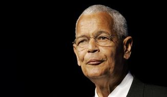 Former NAACP Chairman Julian Bond is seen here in 2007. (Associated Press) **FILE**