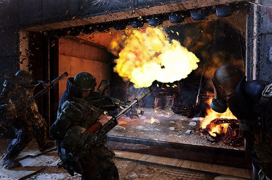When in doubt, burn the creatures out in the first person shooter Metro: Last Light.
