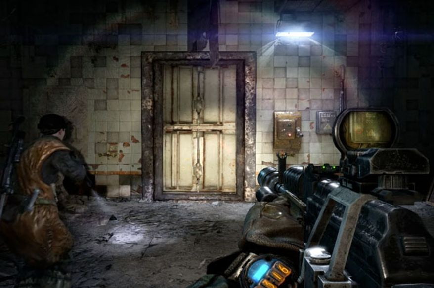 Beware of what is behind the door in the first person shooter Metro: Last Light.