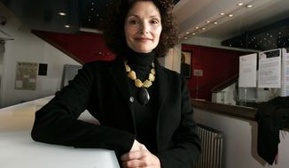 "** FILE ** American actress Mary Elizabeth Mastrantonio attends the artist-led volunteer committee ""Act for Darfur"" in London in2007. (AP Photo/Nathan Strange)"
