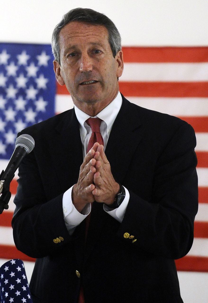 Former South Carolina Gov. Mark Sanford speaks during the NAACP 1st Congressional District political forum on Tuesday, April 30, 2013, in Goose Creek, S.C. (AP Photo/Rainier Ehrhardt)