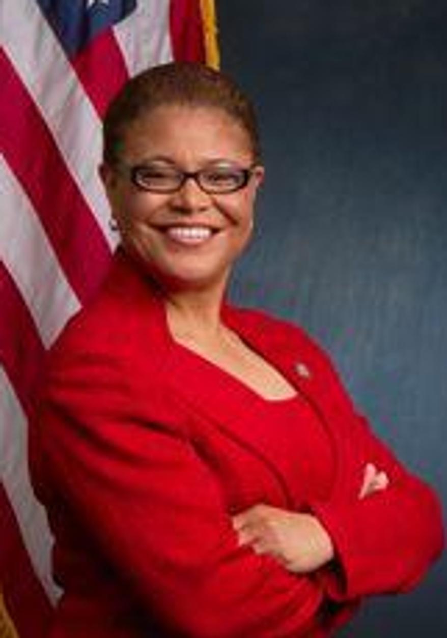 ** FILE ** Rep. Karen Bass, California Democrat. (Screen shot from http://bass.house.gov/)
