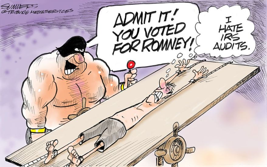 Admit it! You voted for Romney! (Illustration by Dana Summers of the Tribune Media Services)