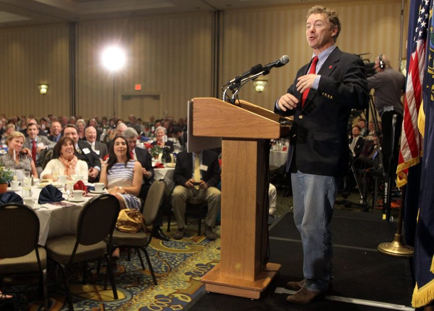 "Sen. Rand Paul, visiting New Hampshire, said of the Republican Party: ""We need to look like the rest of America. We need to be able to appeal to the working class."" (Associated Press)"